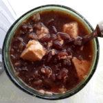 Bouillon de riz noir au tofu - stylisme culinaire Youcookme