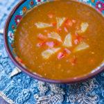 velouté de poivron rouge à l'orange