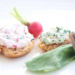Duo de dips radis roquette - stylisme culinaire Youcookme
